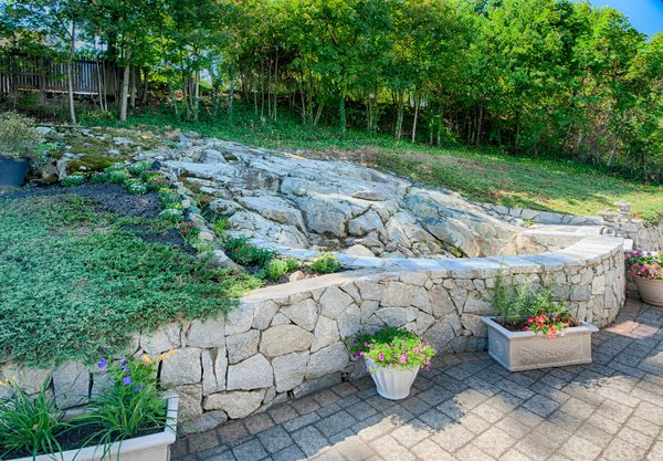 Rock Waterfall perfect for entertaining Photo 7 of Medford Oasis modern home