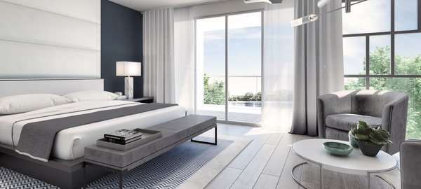 Top-level master suites include a harbor view terrace, spa bath and walk-in closet. Photo 3 of Philips Harbor modern home