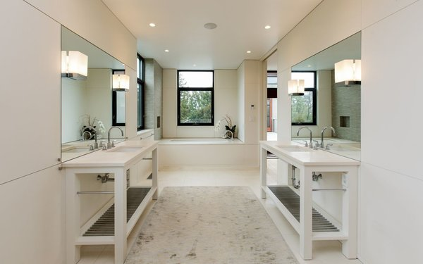 Modern home with bath room. Photo 6 of Sustainable Luxury in Darien
