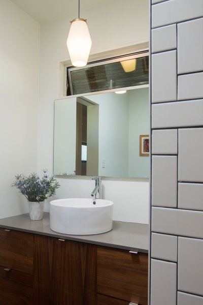 Bathroom: Frameless Glass Entries + Floor to Ceiling Tile Work Photo 13 of Edgewood modern home