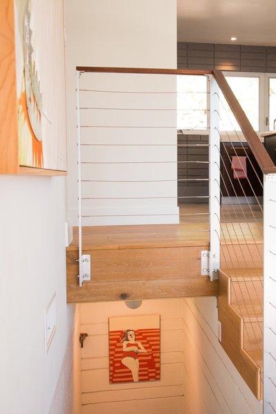 White Oak Flooring + Custom Railing Photo 17 of Edgewood modern home