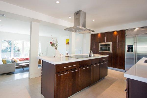 Custom Kitchen: Solid Cherry Casework, Quartz Countertops + Polished Concrete Floors Photo 16 of Edgewood modern home
