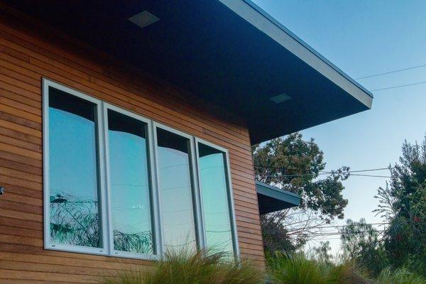 Exterior: Dual Glazed Aluminum Windows Photo 9 of Edgewood modern home
