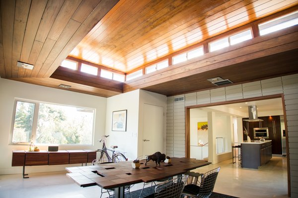 Dining Room: Vaulted Wood Ceiling + Concrete Floors Photo 2 of Edgewood modern home