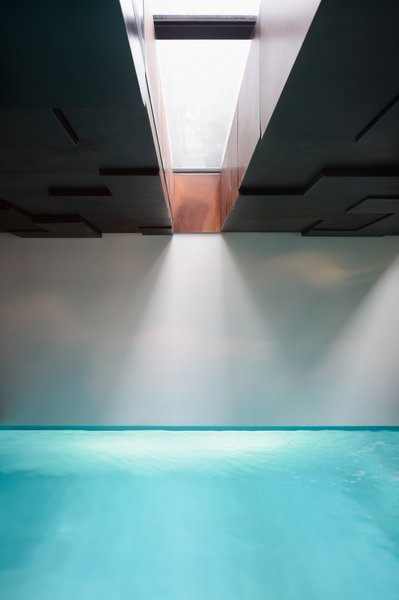 Indoor pool with the corten ceilling Photo 10 of 33 modern home