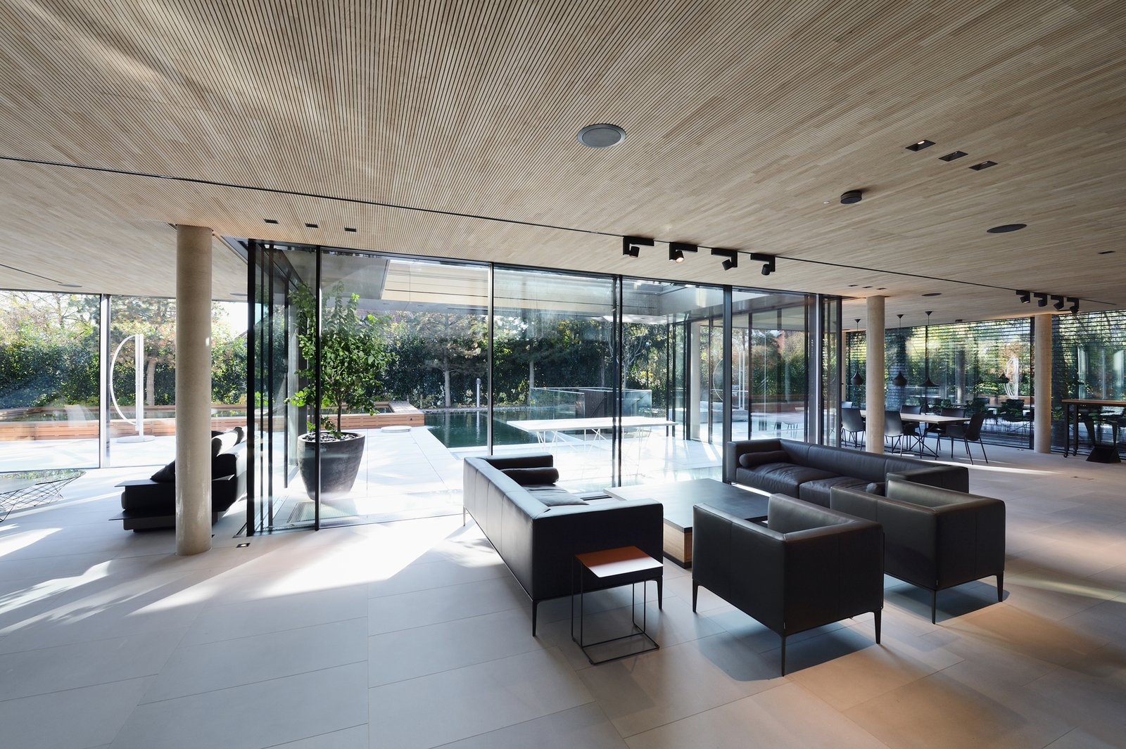 Living room, view to the pool