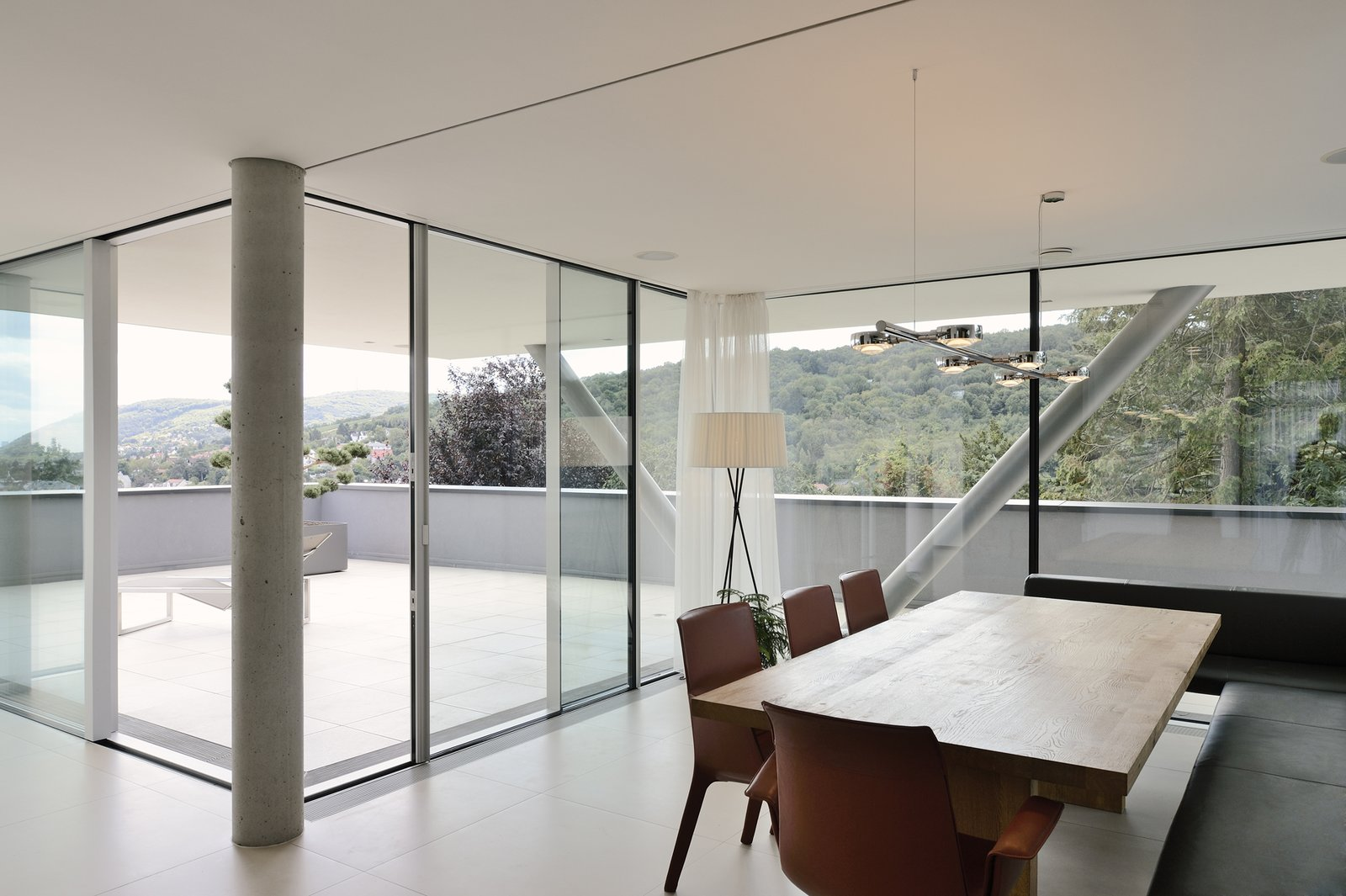 Dining table with the view H_O by Architect Zoran Bodrozic