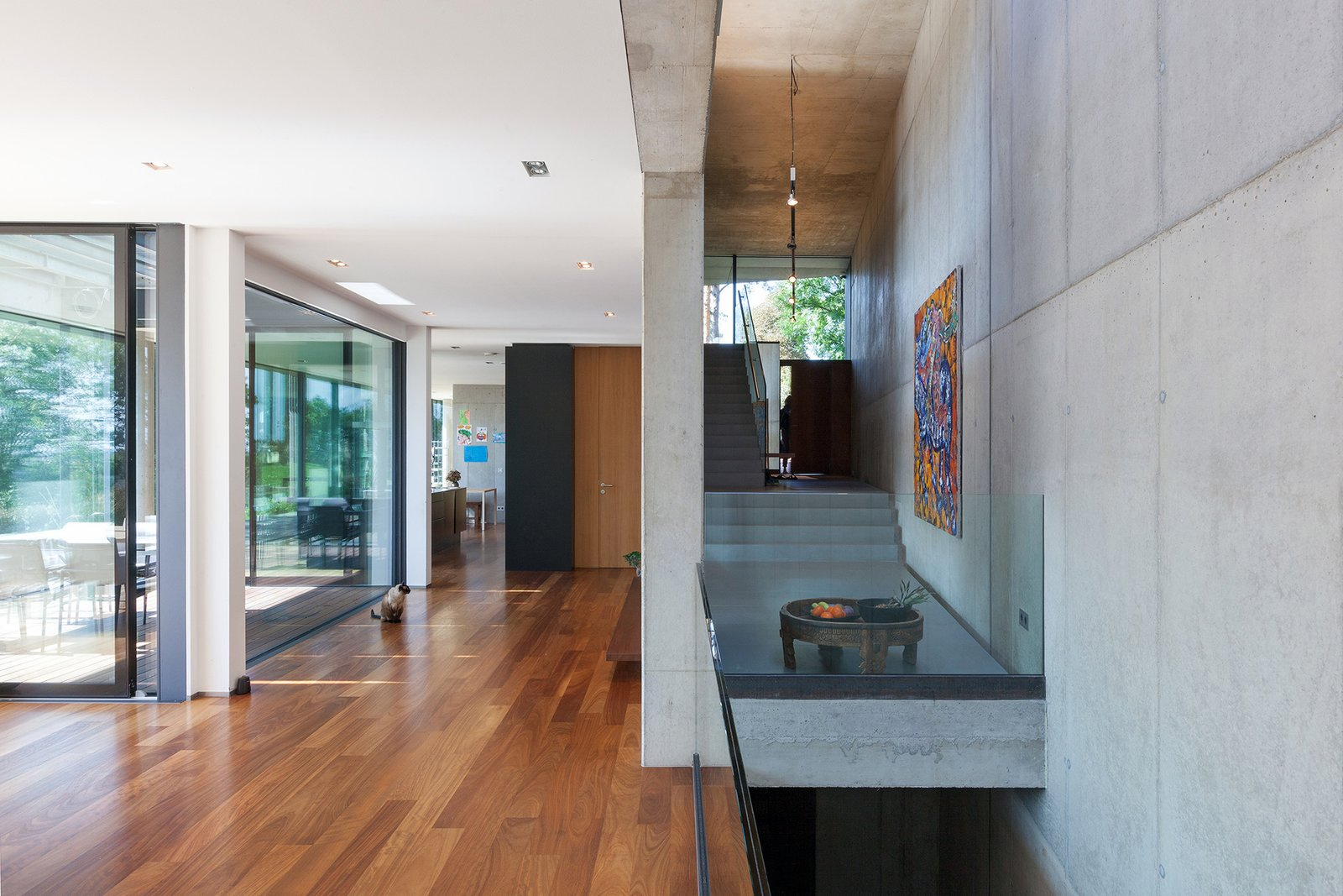 View toward the entrance door and the kitchen  Black Pearl by Architect Zoran Bodrozic