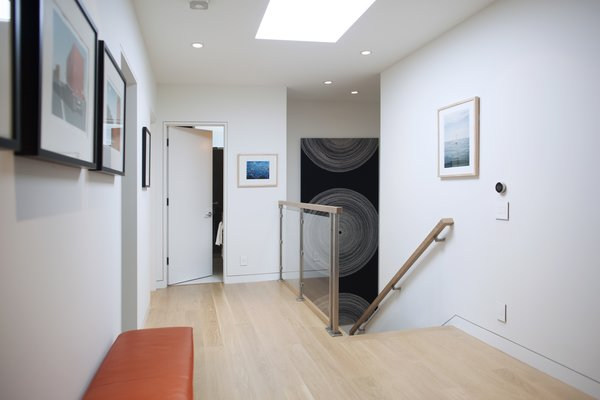 New wide planked American white oak flooring was installed throughout over a new subfloor. Finish is water-based ultra-matte and maintains the natural color of the wood. Photo 20 of Golden Gate Park Residence modern home