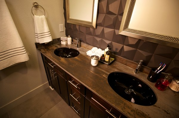 Bathroom with double vanity Photo 6 of The Prime Time modern home