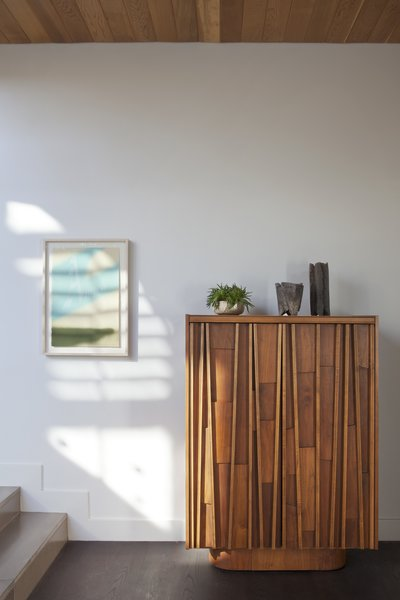 1960's vintage Brutalist walnut cabinet, Jonathan Cross vases and Michael Smolcich ceramic vase Photo 4 of Adelaide House modern home