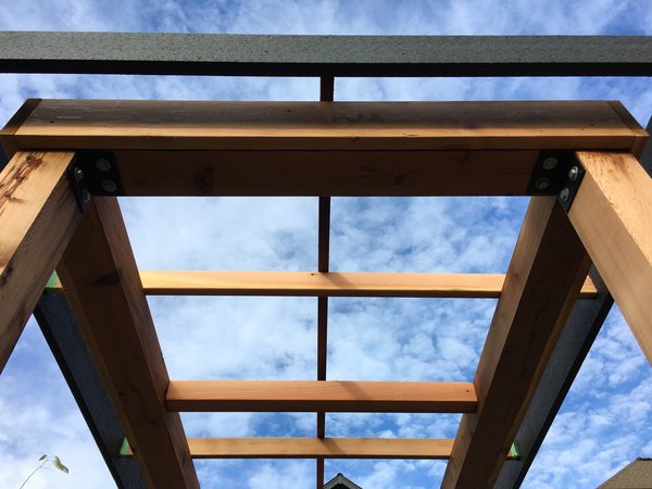 Cedar Pergola top detail, looking up Photo 3 of Port Moody Makeover modern home
