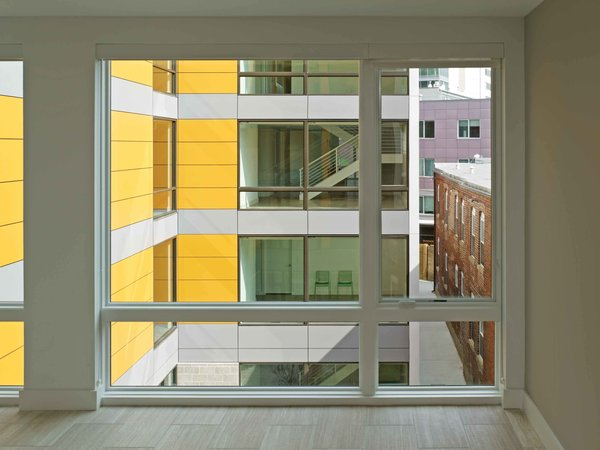 View from unit to interior courtyard Photo 7 of In Living Color modern home