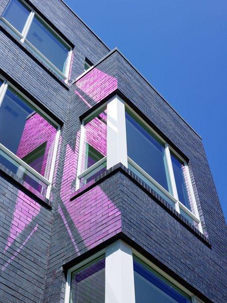Iron spot brick and window detail. Photo 6 of 10th Street Duplexes modern home