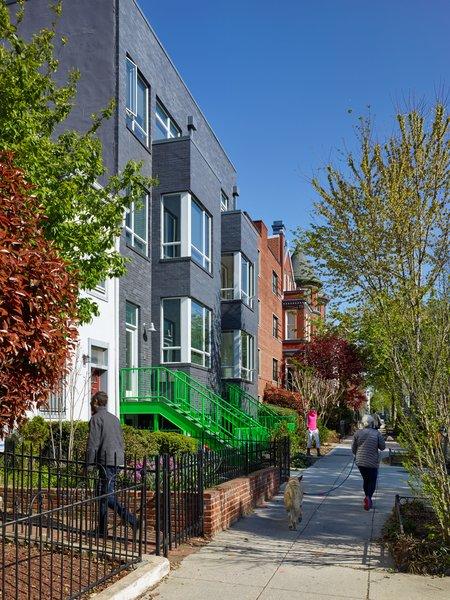 Contemporary facade on historic Washington, DC street. Photo 7 of 10th Street Duplexes modern home