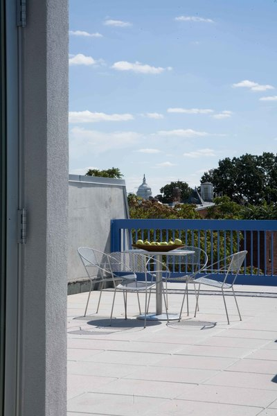 Rooftop patio with views of the United States Capitol Photo 6 of Contemporary Meets Historic on Ridge Row modern home