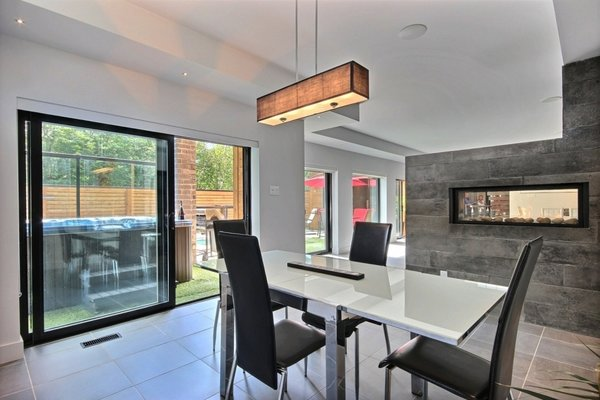 Heated floor dining room Photo 16 of Keps Haus 2.0 California Style in Canada modern home