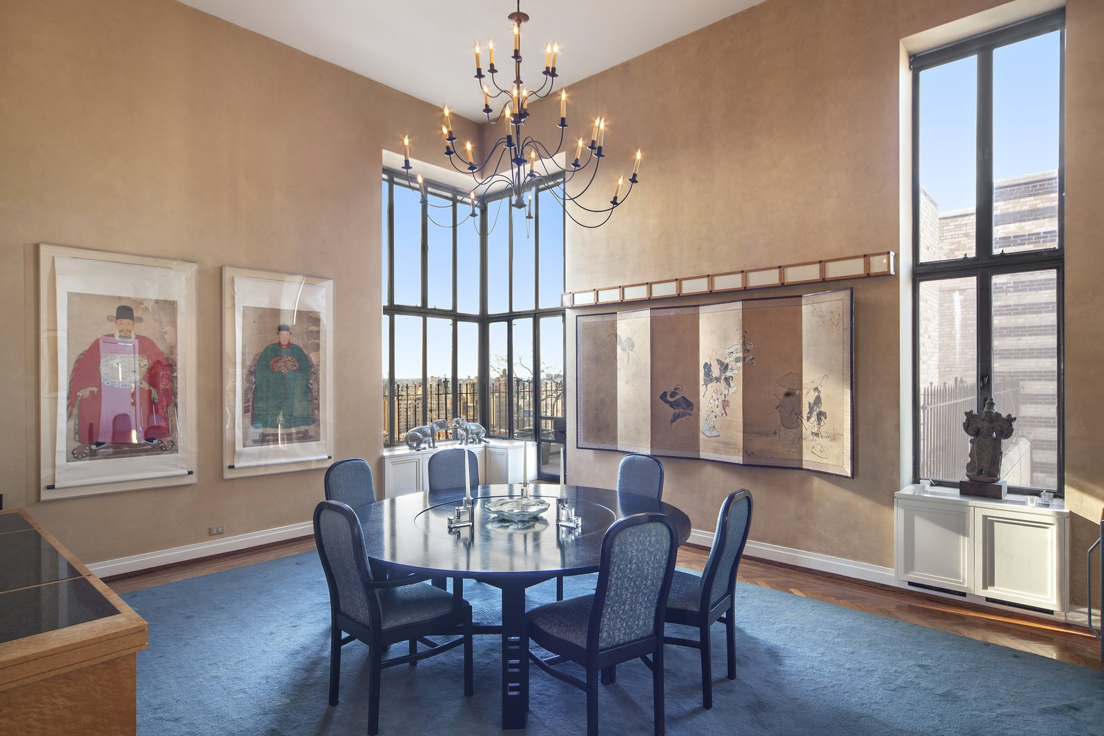 Dining Room with City Views  Magical Manhattan Penthouse by Stribling & Associates