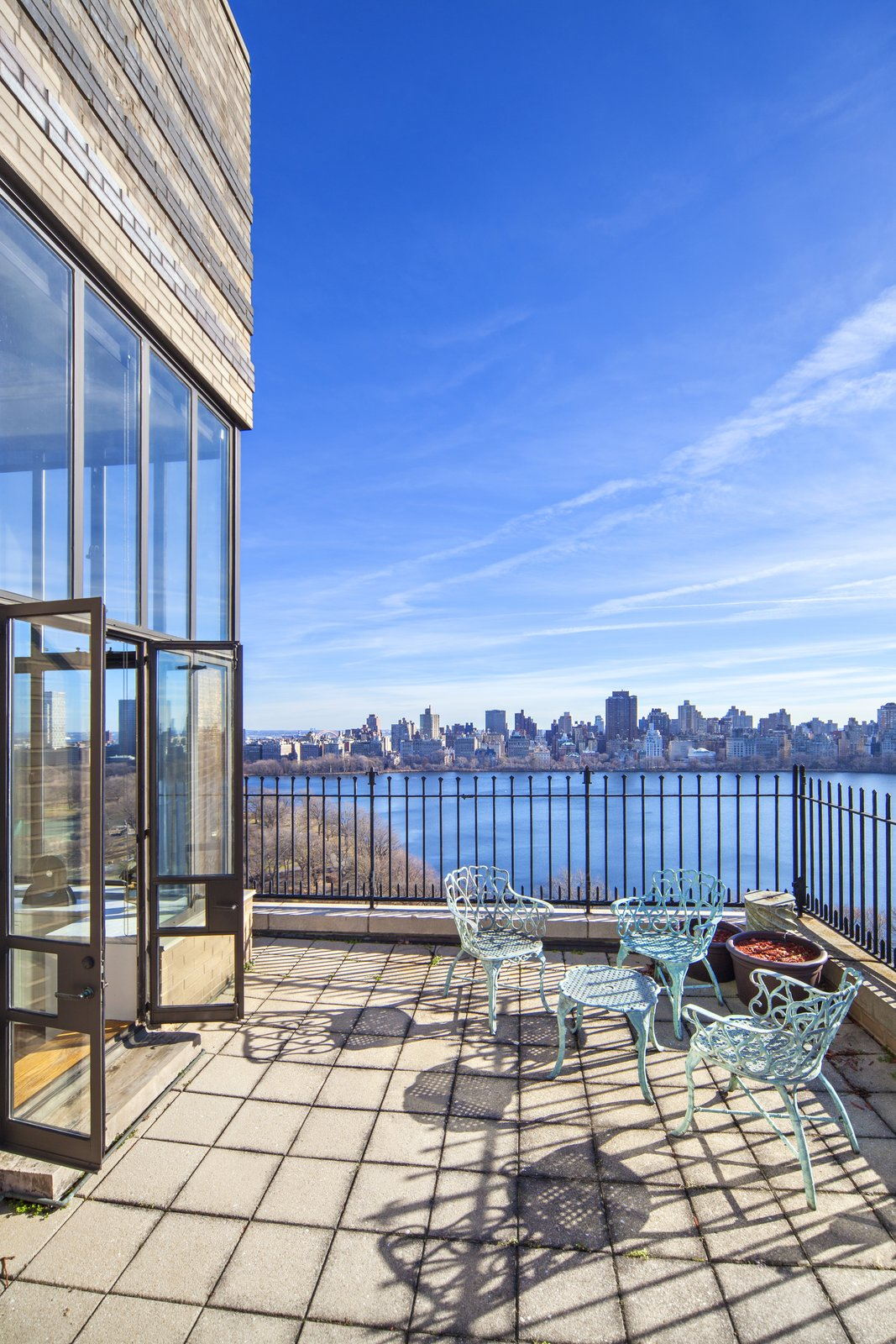 Daytime View of the Reservoir  Magical Manhattan Penthouse by Stribling & Associates