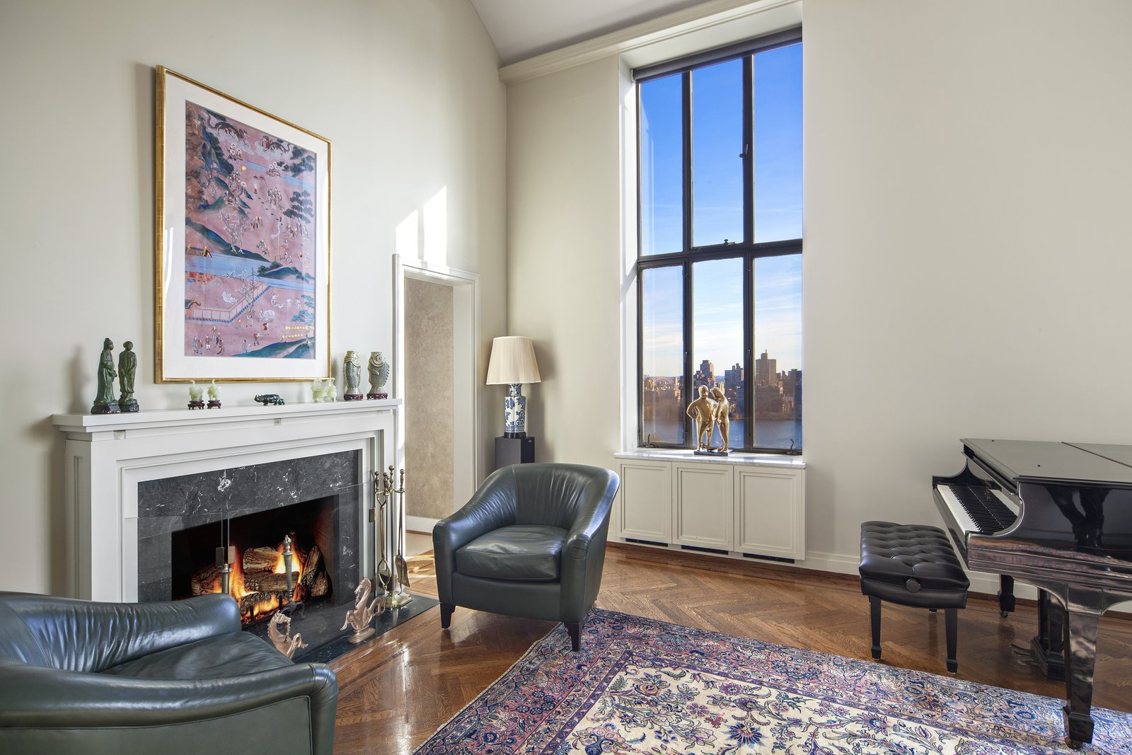 Fireplace with a View  Magical Manhattan Penthouse by Stribling & Associates