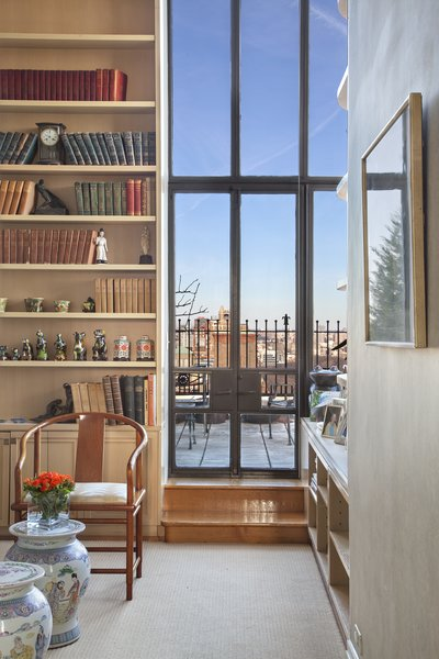 Library Terrace Doors Photo 9 of Magical Manhattan Penthouse modern home