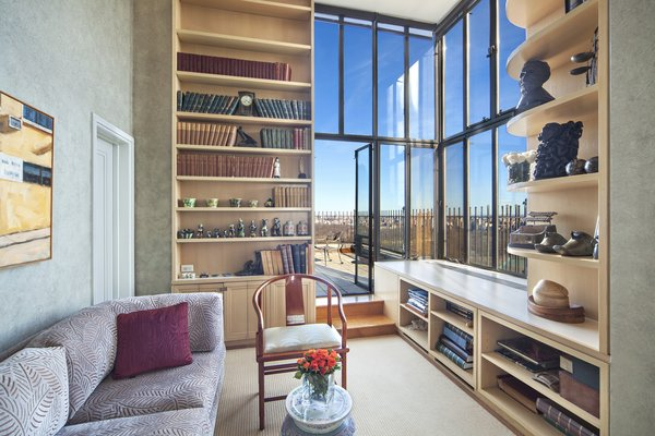 Library Leading to Terrace Photo 8 of Magical Manhattan Penthouse modern home
