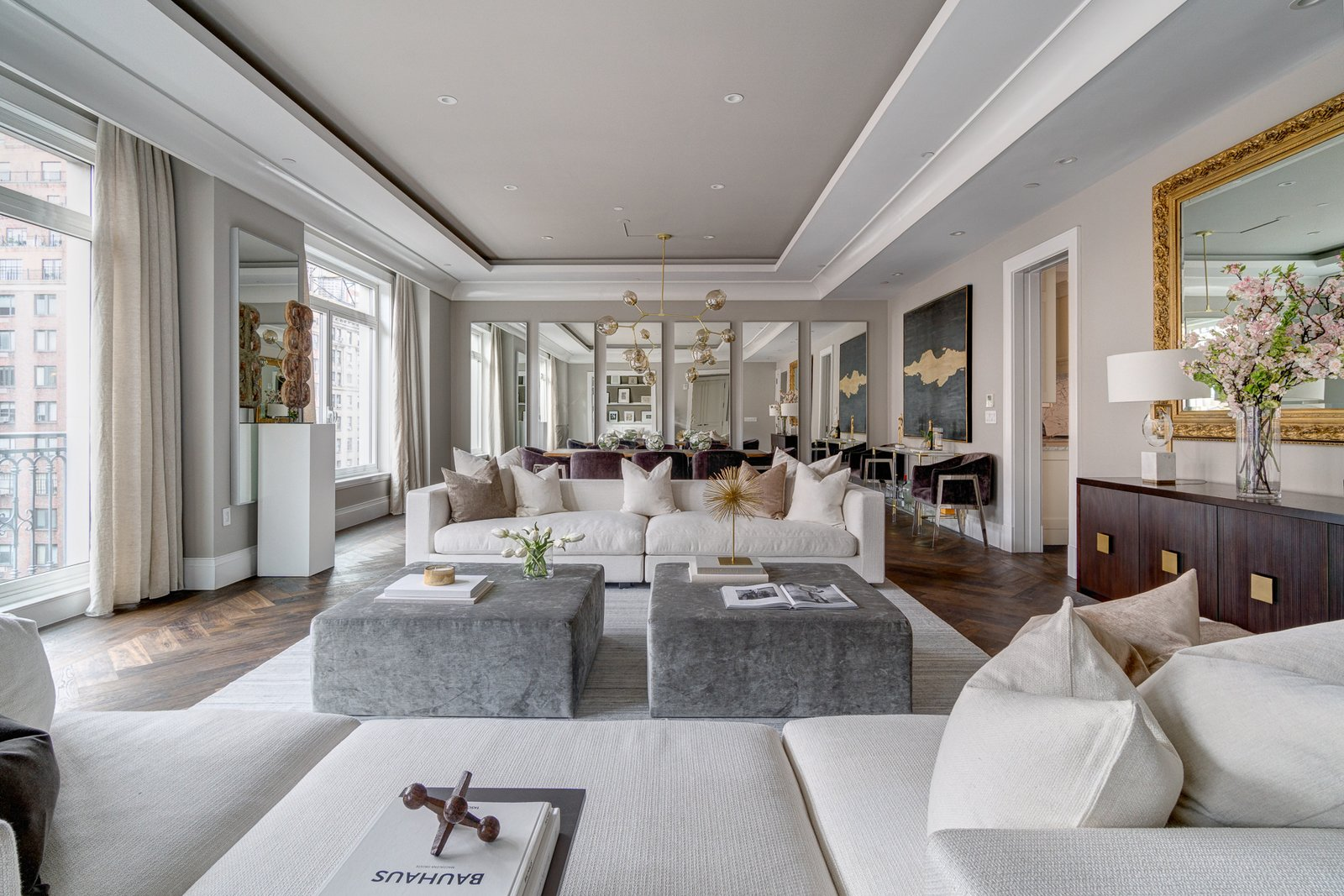 Stunning sun-drenched living room  Grand for Entertaining by Stribling & Associates