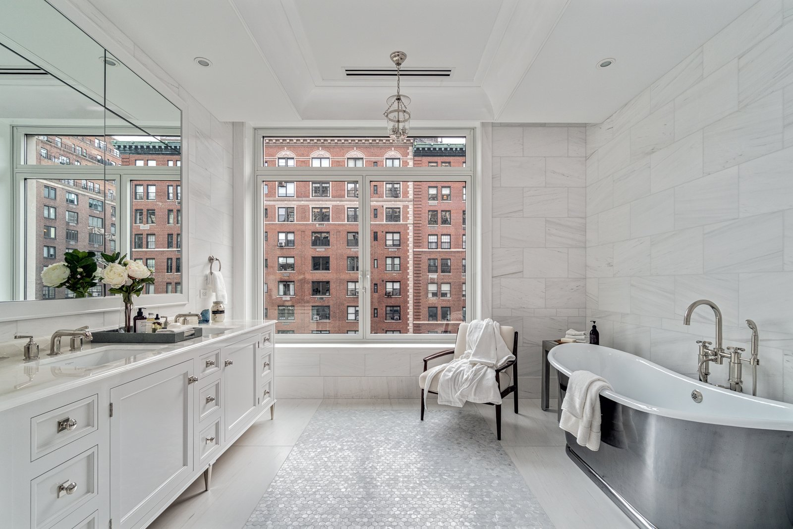 Master bath - with a view  Grand for Entertaining by Stribling & Associates