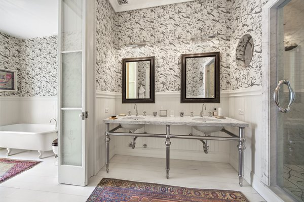 Dreamy bathroom Photo 4 of An Artful Townhouse in the West Village modern home