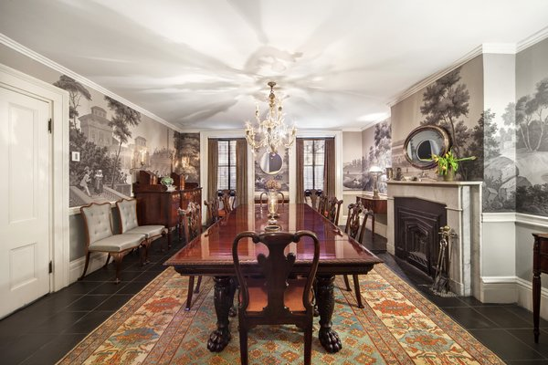 Formal dining room fit for royalty Photo 13 of An Artful Townhouse in the West Village modern home