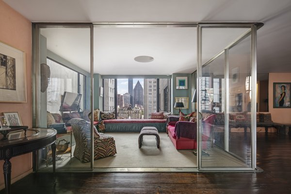 Another view of the glass sitting room designed by Joseph Urban Photo 4 of Longtime Home of Jacob K Javits Designed By Joseph Urban modern home