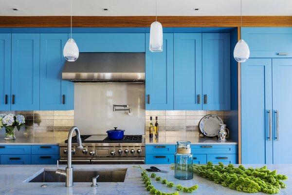 custom cabinetry with Ann Sacks backsplash tile Photo 10 of Boston Suburbs modern home