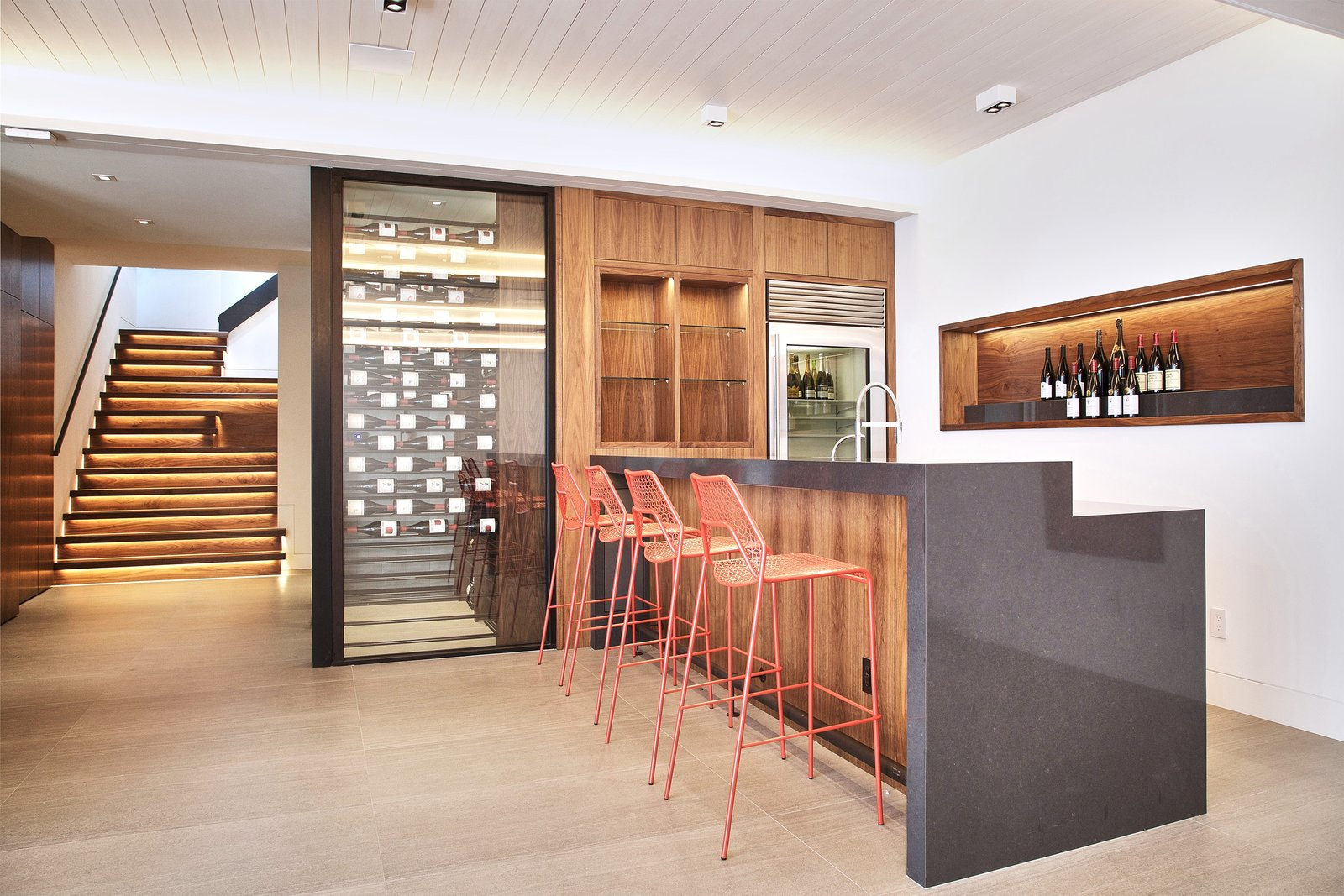 The Great Room - wet bar, wine room, entertainment space