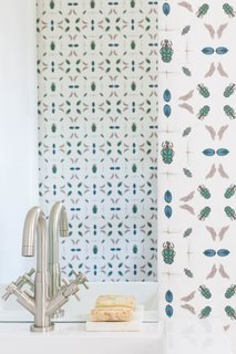 "Q&A With an Architect About What it's Like to Design Your Own Home - Photo 5 of 7 - Jennifer Shorto ""Emeralds"" wallpaper was used for the powder bath."