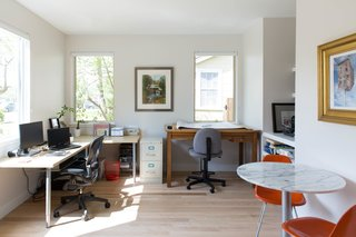 Q&A With an Architect About What it's Like to Design Your Own Home - Photo 7 of 7 - The architect's home office, situated in the front corner of the house, allows for ample natural light and views. The office has its own entrance and is attached to the powder bath, which can also be entered from the hallway near the living room.
