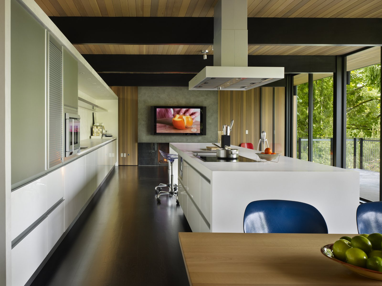 Kitchen & Living Room  Wood Block Residence by chadbourne + doss architects