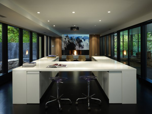 Media Room Photo 9 of Wood Block Residence modern home