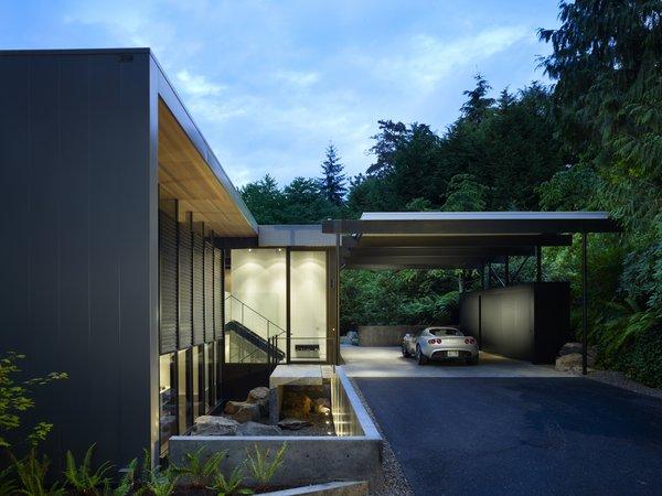 Entry & Carport Photo  of Wood Block Residence modern home