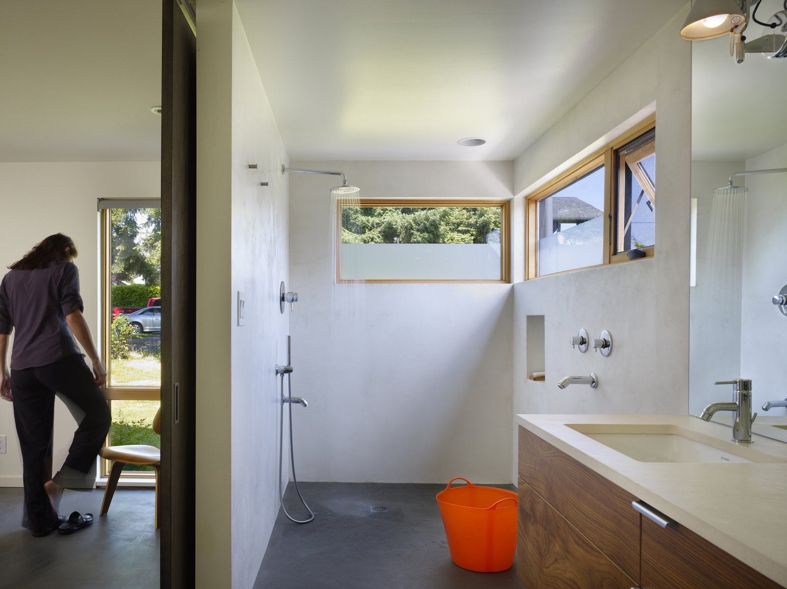 Master Bathroom  Lobster Boat House by chadbourne + doss architects