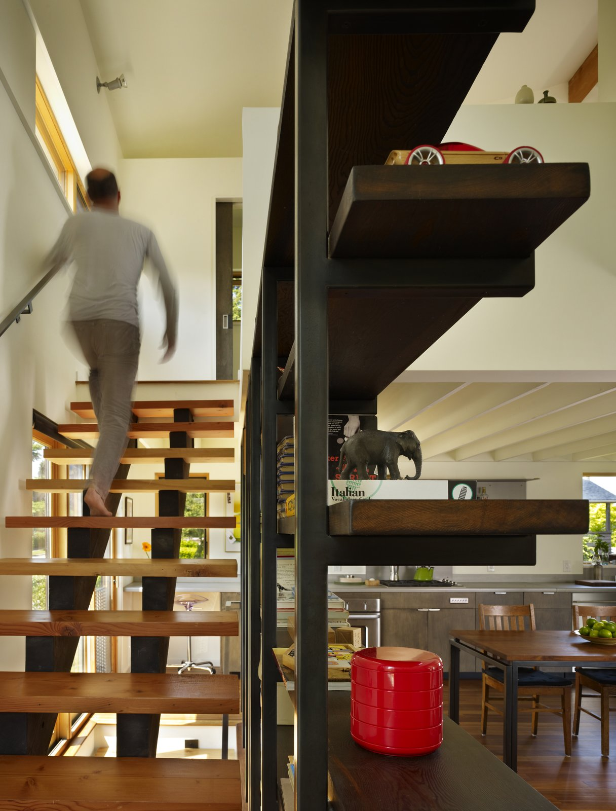 Stair & Bookcase  Lobster Boat House by chadbourne + doss architects