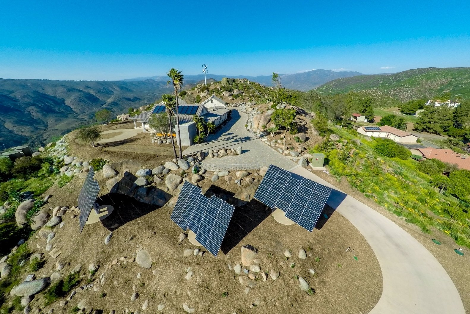 Casa Aguila Drone Photo of Home and Solar Panels