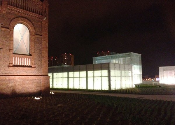 Modern home with outdoor. Old and new by night Photo 3 of Silesian Museum Katowice