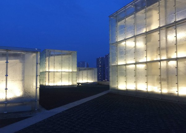 Modern home with outdoor. Up-close by night Photo 5 of Silesian Museum Katowice