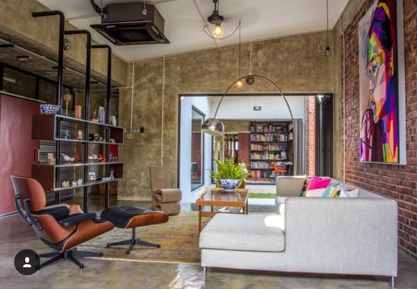 The open concept view of the study from the living room Photo 3 of Plantation House modern home