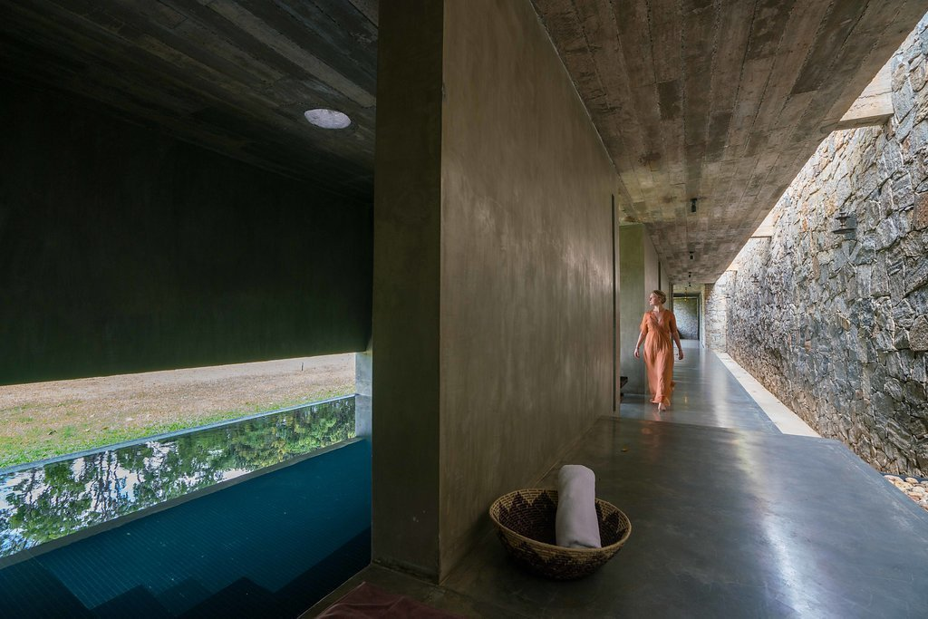 Spa corridor with the Thermal Bath  Santani Wellness Resort and Spa by vickum