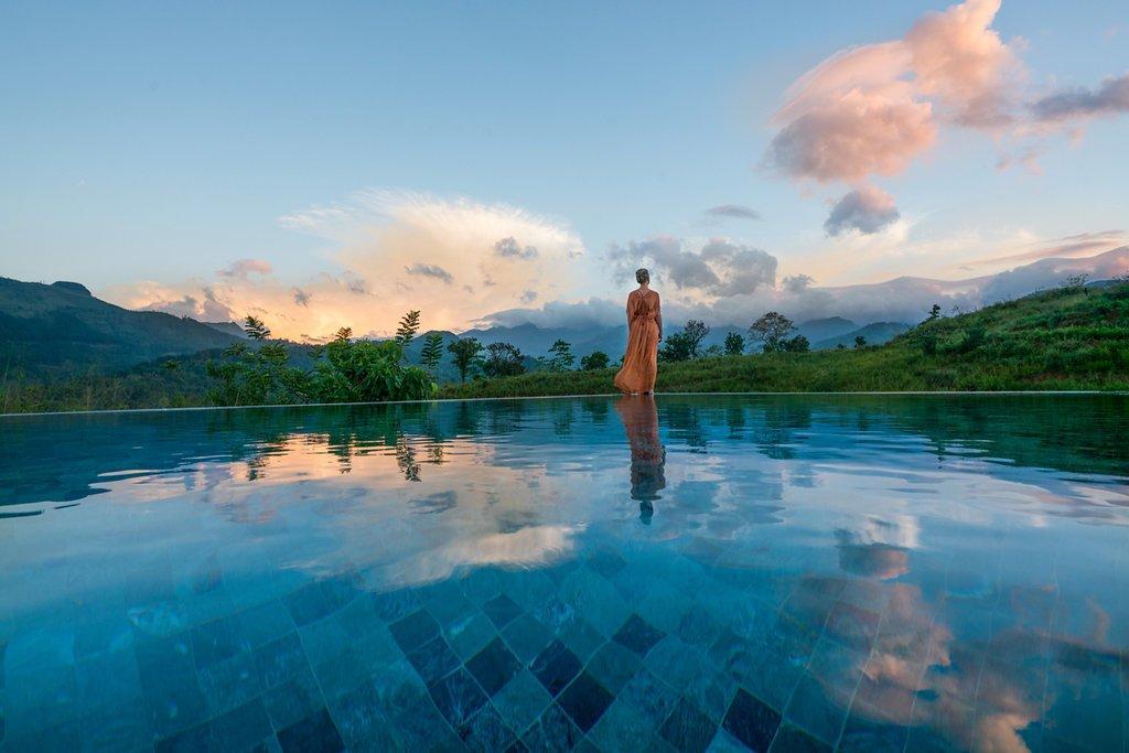 Infinity Pool  Santani Wellness Resort and Spa by vickum