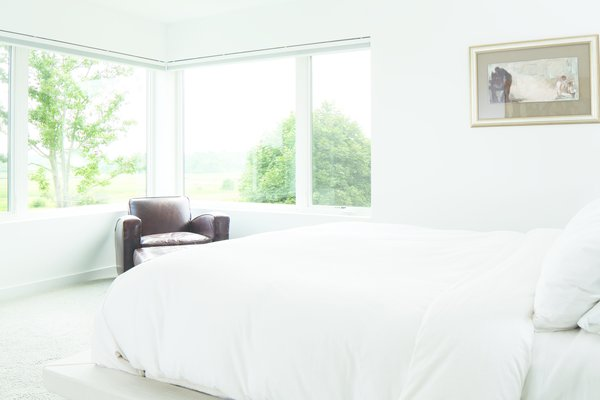 White Bedroom - where the view is the accent wall Photo 5 of Modern On The Marsh modern home