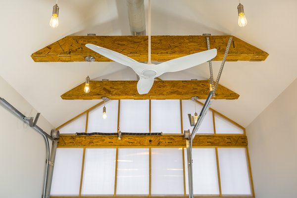 Maker Space Ceiling with Exposed CNC Framing Photo 6 of York Street Maker Spaces modern home