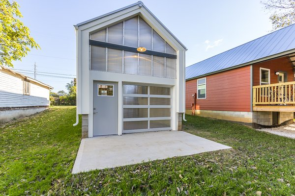 Rear Facade with Roll-up Door  Photo 7 of York Street Maker Spaces modern home