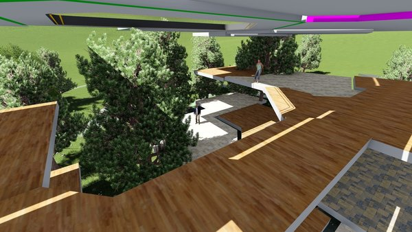 Here we study the 3D spatial arrangement and views on virtual site. All the trees shown are in correct locations based on tree survey, unfortunately we will have to cut down a few... Photo 15 of Majorca Vacation Villa modern home